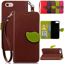 Fashion Slim Leather Card Wallet Kickstand Case Cover For iPod Touch 5th 6th Gen