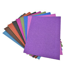 A4 Glitter Card 10 Sheets Same Colour Soft Touch DIY Craft Invitations Party EW