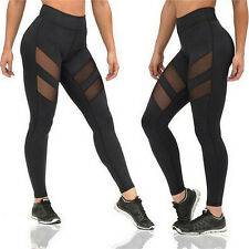 Hot !Women Fashion Running Sport Pants Sexy Tight Mesh Leggings Stretch Trousers