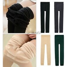 Womens Thick Fleece Lined Winter Leggings Fashion Footed Warm Cotton Stockings