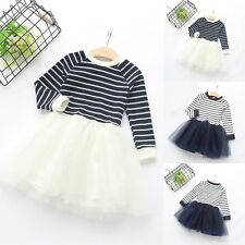 2-7Y Toddler Kids Girls Clothes T-shirt Tops+Tutu Skirt Dress Outfits 2pcs Set