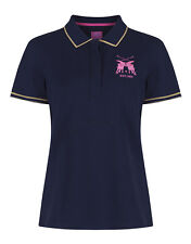 Joules Women's Amity Polo Shirt With Lurex Tipping - French Navy V_AMITY