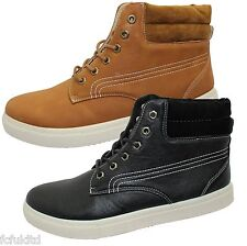 MENS HIGH TOP ANKLE BOOTS BOYS LACE UP TRAINERS DESERT SNEAKERS SKATE SHOES NEW