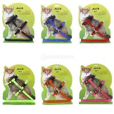 Adjustable Pet Cat Kitten Belt Nylon Lead Leash Collar Harness Safety Strap