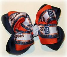 Detroit Tigers Boutique Hair Bow Double Layer Hairbow Baseball MLB Sports Team