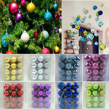 24pcs Christmas Tree Decor Ball Bauble Hanging Home Xmas Party Ornaments Decor