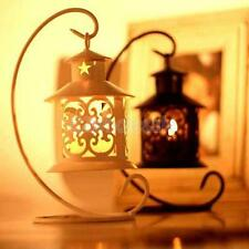 White/Black Hanging Moroccan Tea Light Candle Holder Lantern Candlestick Wedding