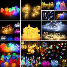 Solar/Battery 20/50/100 LED Fairy String Lights Xmas Halloween Party 17 Patterns