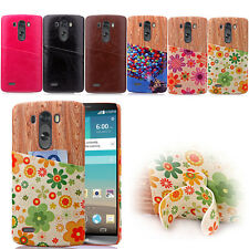 Pattern Card Slots Leather For LG Optimus G3&G4 Hard PU Leather+PC Case Cover