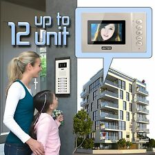 ZOTER 4.3 Inch LCD Video Door Bell Phone Intercom System 2 to 12 Unit Apartments