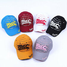 Bat Baseball Cap Embroidery Flat Brim Snapback Hat Hip-Hop Adjust Korea Fashion