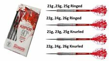 Harrows RAPIDE 90% Tungsten Steel Tip Darts 21g to 26g  Ringed or Knurled Barrel