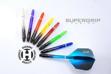 1 SET OF HARROWS SUPERGRIP FUSION DART STEMS SHAFTS - 8 COLOURS -  3 SIZES