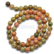 4mm Natural Autumn Jasper Stone Round Loose Beads Spacer Gemstone 15'' Strand