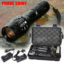 5000LM Shadowhawk X800 Tactical Flashlight LED Military Torch G700 Lamps Set Lot