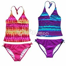 Girl Kid Two Piece Swimsuit Bathing Halter Tankini Bikini Set Swimwear Beachwear