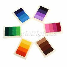 Lovely Colourful Ink Pad Oil Based For Rubber Stamps Paper Wood Fabric DIY Craft