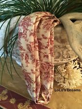 SALE Chandelier Chain Cord Cover~VELCRO~Red Toile