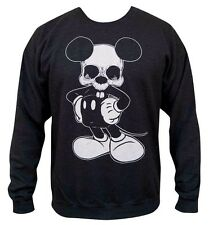 NWT Mens Dead Mikey Mouse Josh Stebbins Black Cotton Sweatshirt Lowbrow Art S-2X