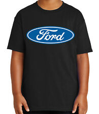 Ford Logo Kid's T-shirt Licensed Ford Logo on Chest Tee for Youth - 1496C