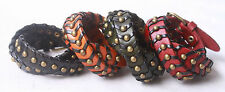 1pcs Genuine Leather Bracelet Cuff Punk Charm Bracelet Wristband Nl064-67 Free