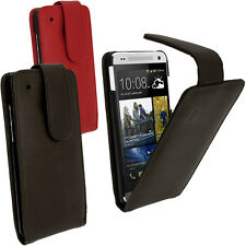 Leather Flip Skin Case Cover Holder Pouch for HTC One MINI M4 + Screen Protector