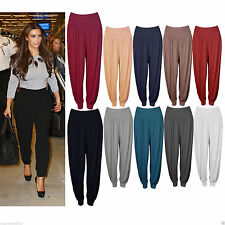WOMEN LADIES FULL LENGTH GIRLS ALI BABA FLARED BAGGY CASUAL PARTY TROUSER PANTS