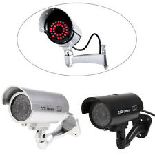 Outdoor Indoor Fake Surveillance Security Dummy Night Camera CCTV With LED Light