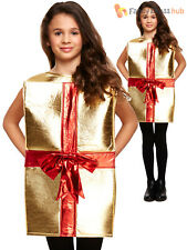 Childs Christmas Present Costume Boys Girls Xmas Gift Fancy Dress Novelty Outfit