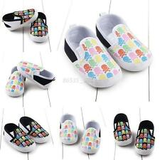 0-12M Baby Infant Boy Girl Cute Crib Shoes Toddler Kid Soft Sole Prewalker Shoes