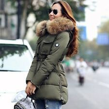 TOP Quality Large Real Fur 2016 Winter Jacket Women Raccoon Fur Collar Hooded Th