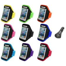 For iPod Touch 5th Gen 5G 5 Full Running Sports Gym Armband Case+Car Charger