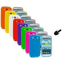 TPU Jelly Solid Rubber Case Cover+Mini Stylus for Samsung Galaxy S III S3 i9300