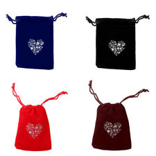 10pcs Christmas Heart Velvet Drawstring Jewelry Candy Wedding Pouch Gift Bags