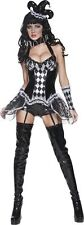 Smiffys Cirque Sinister Tainted Harlequin Womens Costume Fancy Dress