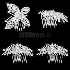 Wedding Bridal Silver Plated Crystal Hair Comb Clip Headpieces Hair Jewelry