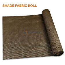 Fabric Roll Fence Privacy Sun Wind Screen UV Block DIY Shade Cloth Cover BROWN