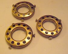 """Lot of 3 UNO 2 1/4"""" Fitter Solid Brass Bridge Lamp Shade Holder Lamp Part"""