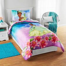 *NEW KIDS GIRLS DISNEY PRINCESS TIANA BEDDING BED IN A BAG / COMFORTER SET
