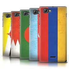 STUFF4 Phone Case/Back Cover for Sony Xperia J (ST26i) /Asian Flag