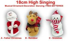 Singing Dancing Musical Character Father Christmas Reindeer Snowman Decoration