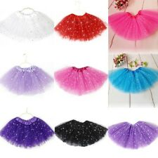 Girls Princess Tutu Skirt Party Ballet Dance Costume Kids Dress Tulle Pettiskirt