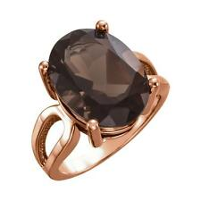 Oval Smoky Quartz Ring 14k Rose, Yellow or White Gold Size 7