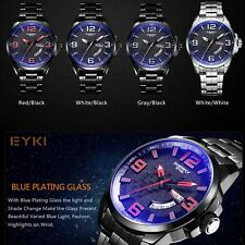 EYKI Men Men's Luxury Alloy Leisure Watch Stainless Steel  Quartz Wristwatches