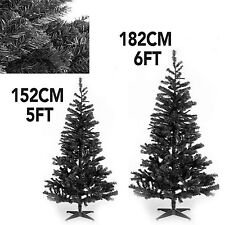 INDOOR/OUTDOOR BLACK ARTIFICIAL XMAS TREE DECORATION WITH STAND CHRISTMAS TREE