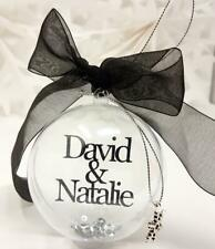 Our First Christmas Personalised Bauble Couples Gift Present Decorations Heart