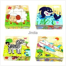 Wooden Early Education Baby 3D Six Area Jigsaw Puzzle Toy Multicolor YOU WISH