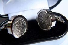 Patented Lucky Silver Sixpence Cufflinks Gift. 1966 - England World Cup Winners