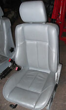 MERCEDES W202 CHASSIS C CLASS GREY  LEATHER PASSENGER SEAT  (Fits: Mercedes-Benz C-Class)