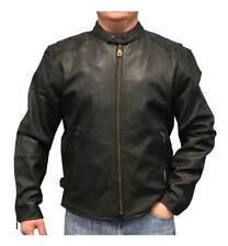 Redline Men's Leather Touring Motorcycle Jacket with Gator Liner, Black M-600GS